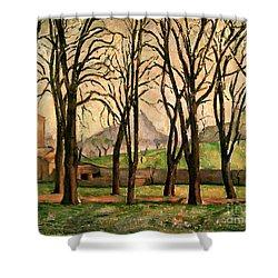 Chestnut Trees At The Jas De Bouffan Shower Curtain by Paul Cezanne