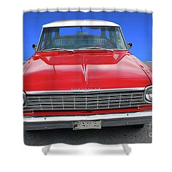 Shower Curtain featuring the photograph Chev Wagon by Bill Thomson