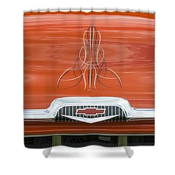 Chevrolet 30-1956 Hydramatic 3100 Shower Curtain by Wendy Wilton