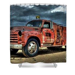 Chevrolet Fire Truck Shower Curtain