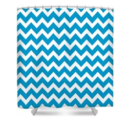 Shower Curtain featuring the digital art Chevron Pattern - Pick Your Color by Mark E Tisdale