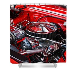 Chevy 350 Shower Curtain by Paul Mashburn