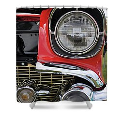 Shower Curtain featuring the photograph Chevy Bel Air by Glenn Gordon