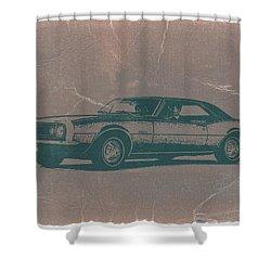 Chevy Camaro Shower Curtain by Naxart Studio
