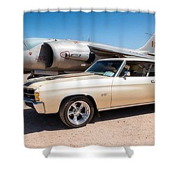Chevy Chevelle At Pima Air And Space Shower Curtain