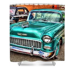 Chevy Cruising 55 Shower Curtain by Dale R Carlson