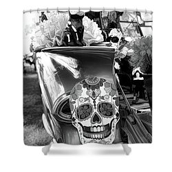 16c4a5266f5 Chevy Decor Day Of Dead Bw Shower Curtain