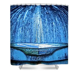 Chevy Hood Shower Curtain
