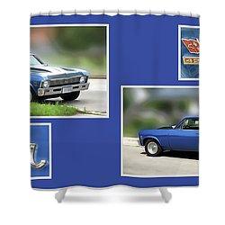 Chevy Nova Horizontal Shower Curtain