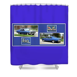 Chevy Nova Horizontal Shower Curtain