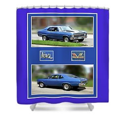 Chevy Nova Vertical  Shower Curtain