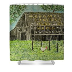 Chew Mail Pouch Barn Shower Curtain