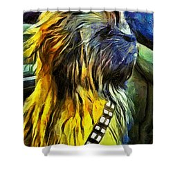 Chewbacca Dog - Da Shower Curtain