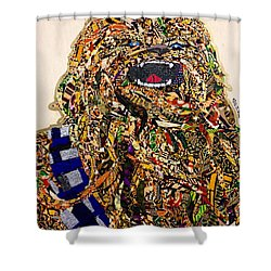 Chewbacca Star Wars Awakens Afrofuturist Collection Shower Curtain