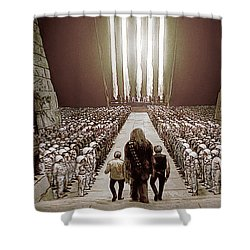 Chewbacca's March To Disappointment Shower Curtain