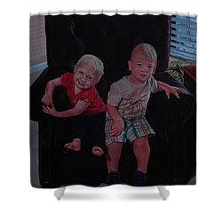 Cheyenne And Kai Shower Curtain by Michael Nowak