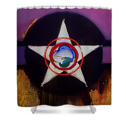 Shower Curtain featuring the painting Cheyenne Autumn by Charles Stuart