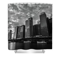 Chi Sunrise Black And White Shower Curtain