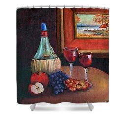 Chianti Still Life Shower Curtain