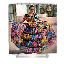 Chiapaneca Dress Shower Curtain