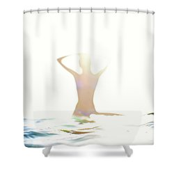 Chica Agua Shower Curtain