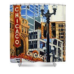 Chicago - The Chicago Theater Shower Curtain