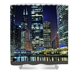 Chicago 2017 Full Moon Shower Curtain