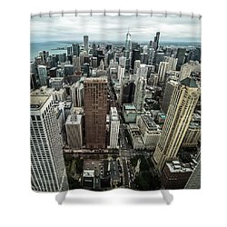 Chicago Aerial Shower Curtain