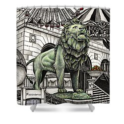 Chicago Art Institute Lion Shower Curtain