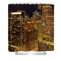 Chicago At Night Shower Curtain