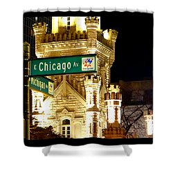 Chicago Avenue  Shower Curtain by Elizabeth Coats