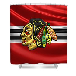 Chicago Blackhawks Shower Curtain by Serge Averbukh