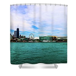 Chicago Blue Shower Curtain