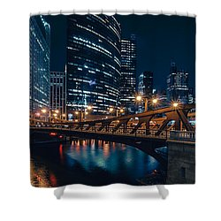 Chicago Blue II Shower Curtain