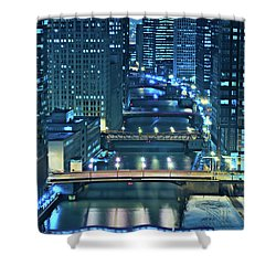 Chicago Bridges Shower Curtain by Steve Gadomski