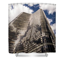 Shower Curtain featuring the photograph Chicago Building by Zawhaus Photography