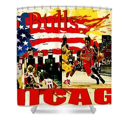 Chicago Bulls Shower Curtain