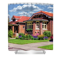 Chicago Bungalows Shower Curtain