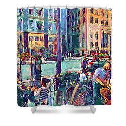 Chicago Cafe Shower Curtain