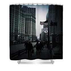 Chicago City Fog Shower Curtain