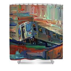 Chicago City Train Shower Curtain