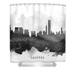 Chicago Cityscape 11 Shower Curtain by Aged Pixel