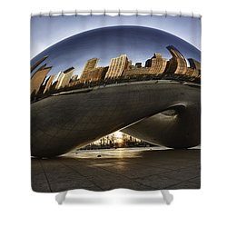 Chicago Cloud Gate At Sunrise Shower Curtain
