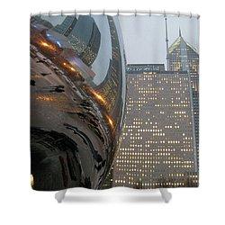 Shower Curtain featuring the photograph Chicago Cloud Gate. Reflections by Ausra Huntington nee Paulauskaite