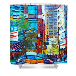 Chicago Colors 1 Shower Curtain