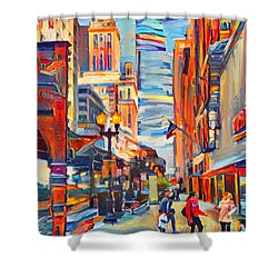 Chicago Colors 4 Shower Curtain