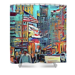 Chicago Colors 5 Shower Curtain