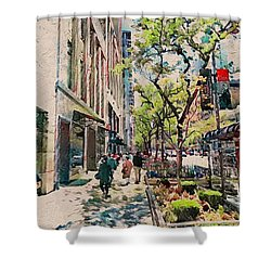 Chicago Colors 6 Shower Curtain