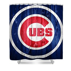 Chicago Cubs Barn Door Shower Curtain