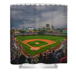 Chicago Cubs Wrigley Field 4 8213 Shower Curtain by David Haskett